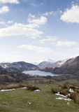 Lake in Snowdonia with views of Mount Snowdon Royalty Free Stock Photography