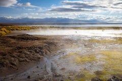 Lake in sol de manana geothermal field, sud Lipez reserva, Boliv Stock Photos