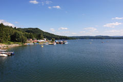 Lake Solina. In the Bieszczady Mountains (Poland Royalty Free Stock Image
