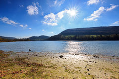 Lake Solina in Bieszczady mountains. Royalty Free Stock Images
