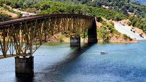 Lake Sonoma Bridge. A view of the bridge over the Sonoma Lake Reservoir in Sonoma County, California near Healdsburg Stock Photography