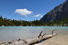 Lake of Sorapis. This is the beautiful lake of sorapis in Belluno, Italy Royalty Free Stock Photos
