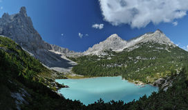 Lake Sorapis in the Dolomites 1 Stock Image
