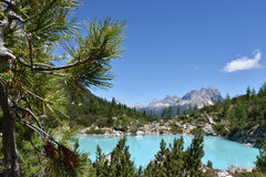 Lake of Sorapis, Tarn. This is the beautiful lake of sorapis in Belluno, Italy Royalty Free Stock Photography