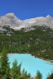 Lake of Sorapis, Tarn. This is the beautiful lake of sorapis in Belluno, Italy Royalty Free Stock Image