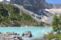 Lake of Sorapis, Tarn. This is the beautiful lake of sorapis in Belluno, Italy Royalty Free Stock Photo
