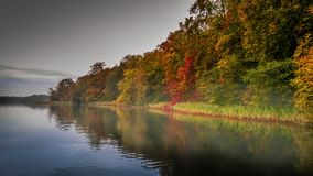 Lake Soroe. Autumn colors in Lake Soroe Denmark art royalty free stock image