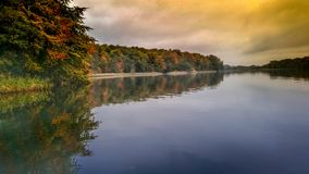 Lake Soroe Denmark. Autumn colors at lake Soroe Denmark art royalty free stock images