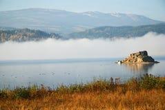 Lake Sosnowka and ridge Giant Mountain Stock Image