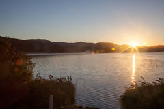 Lake in South Africa. Groenvlei Lake between Knysna & Sedgefield Royalty Free Stock Photos