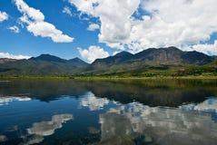 Lake in Southwest of China stock image