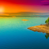 Lake in Spain Royalty Free Stock Images