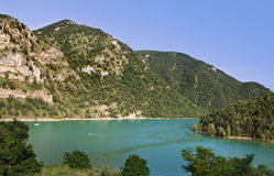 Lake in Spanish Pyrenees Royalty Free Stock Photo