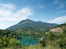 Lake in the Spanish Pyrenees Stock Images