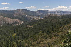 Lake Spaulding in the Sierra Nevada Range Royalty Free Stock Photos