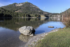 Lake Spitzingsee in Bavaria, Germany Stock Image