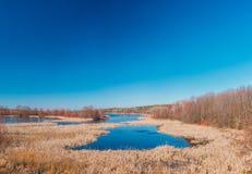 Lake In Spring Season In Belarus. Sunny Spring Day. Belarusian Stock Images