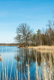 Lake spring season. Seen from the shore Stock Image