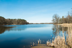 Lake spring season. Seen from the shore Royalty Free Stock Photography
