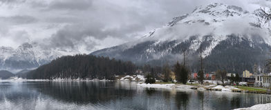 Lake St. Moritz in the autumn Stock Images