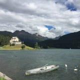 Lake St. Moritz royalty free stock image