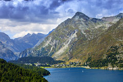 Lake of St. Moritz Stock Photo