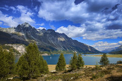 Lake of St. Moritz royalty free stock photography