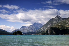 Lake of St. Moritz Royalty Free Stock Photos