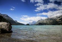 Lake of St. Moritz Stock Photography