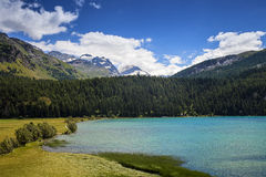 Lake of St. Moritz Stock Photo