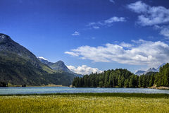 Lake of St. Moritz Royalty Free Stock Photo