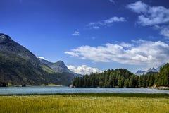 Lake of St. Moritz Royalty Free Stock Photo