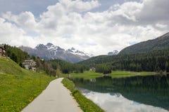 Lake St. Moritz , Switzerland. Royalty Free Stock Image