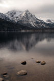 Lake Stanley Vertical Sawtooth Range Peak Royalty Free Stock Photos