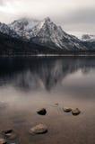 Lake Stanley Vertical Sawtooth Range Peak Royalty Free Stock Photos