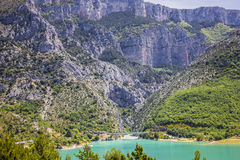 Lake Ste croix and Verdon gorge. Lake Ste croix and gorges du Verdon in Provence Royalty Free Stock Photography
