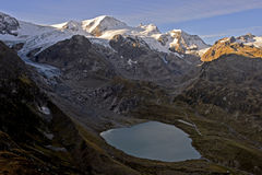 Lake Steinsee and glacier Steingletscher Royalty Free Stock Image