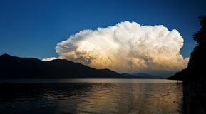 Lake storm clouds Royalty Free Stock Photography