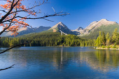 Lake Strbske pleso in High Tatras mountain, Slovakia Royalty Free Stock Photography