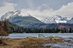 Lake Strbske pleso Royalty Free Stock Image