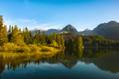 Lake Strbske pleso, High Tatras, Slovakia Royalty Free Stock Photo