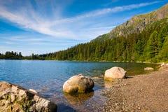 Lake Strbske pleso, High Tatras, Slovakia Royalty Free Stock Images