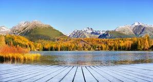 Lake Strbske pleso, High Tatras, Slovakia Royalty Free Stock Photography