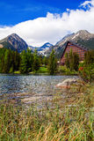 Lake Strbske Pleso And A Hotel Royalty Free Stock Image