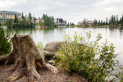 Lake at Strbske Pleso Royalty Free Stock Photography