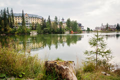 Lake at Strbske Pleso Royalty Free Stock Photo