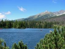 Lake Strbske pleso Royalty Free Stock Images