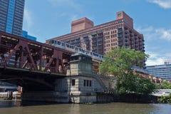 Lake Street Bridge in Chicago Royalty Free Stock Photography