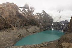 Lake Sucia with glaciers around Royalty Free Stock Photo