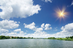 Lake  by summer day. Royalty Free Stock Photography